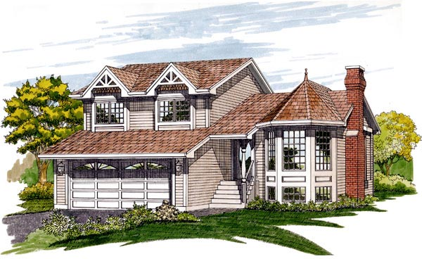 Victorian House Plan 55214 Elevation