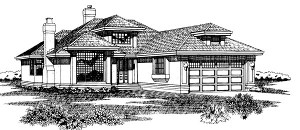 Contemporary House Plan 55215 Elevation
