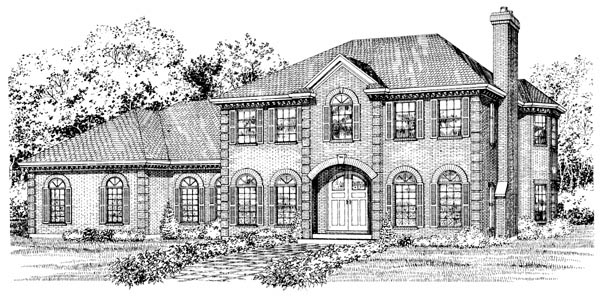 Colonial House Plan 55219 Elevation