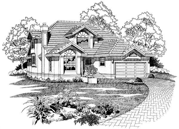 Mediterranean House Plan 55220 Elevation