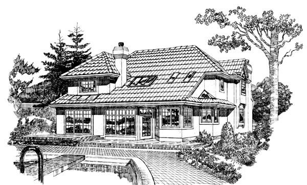 Mediterranean House Plan 55220 Rear Elevation