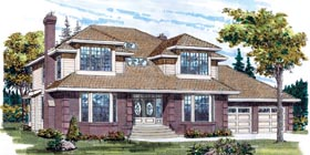 Traditional House Plan 55222 Elevation