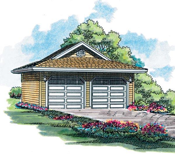 Garage Plan 55225 Elevation