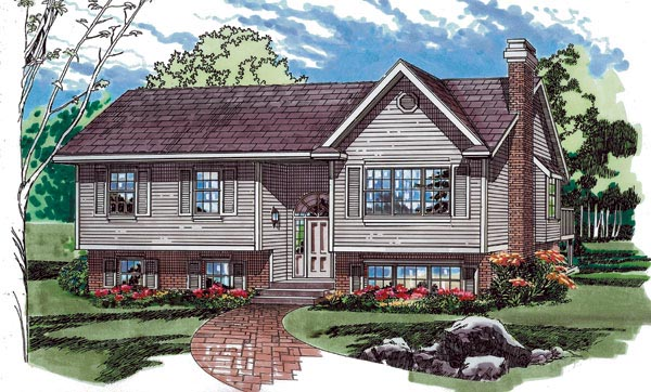 Ranch Traditional House Plan 55226 Elevation