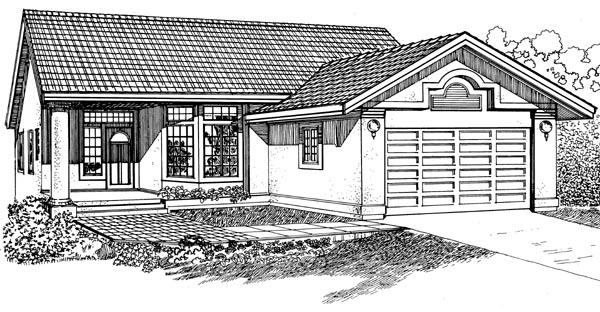 Florida House Plan 55228 Elevation