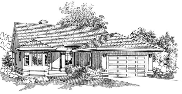 Traditional House Plan 55230 Elevation