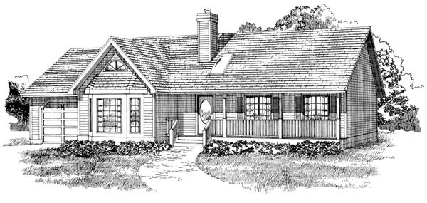 Ranch House Plan 55231 Elevation