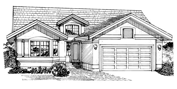 Traditional House Plan 55232 Elevation