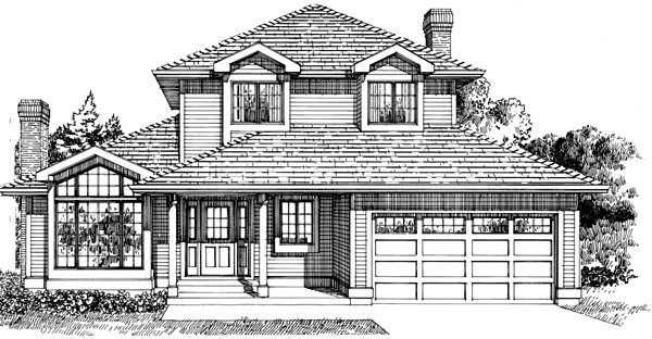 Traditional House Plan 55235 Elevation