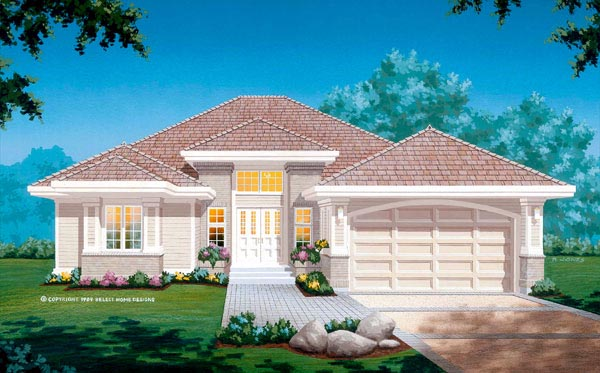 Contemporary House Plan 55236 Elevation