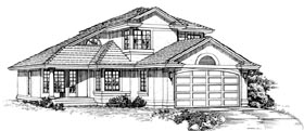 Contemporary House Plan 55239 Elevation
