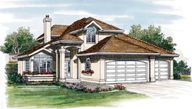 Contemporary House Plan 55240 Elevation