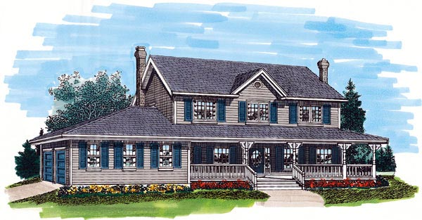 Country House Plan 55241 Elevation