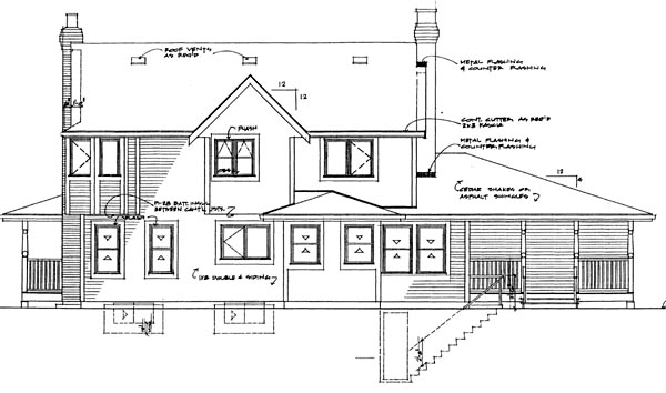 Country House Plan 55241 Rear Elevation
