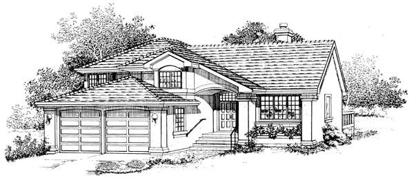 Mediterranean House Plan 55243 Elevation