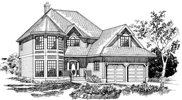 Victorian House Plan 55244 Elevation