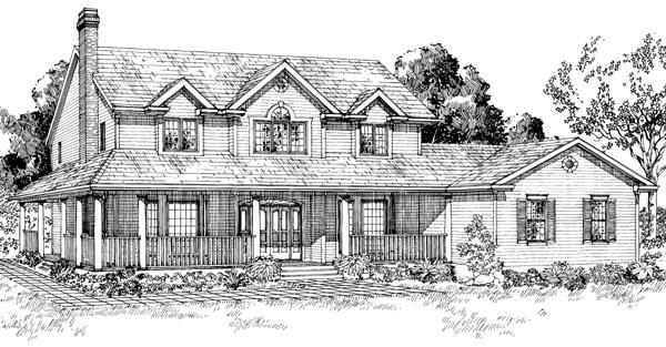 Farmhouse House Plan 55245 Elevation
