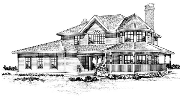 Victorian House Plan 55246 Elevation