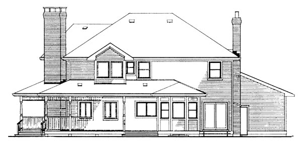 Victorian House Plan 55246 Rear Elevation