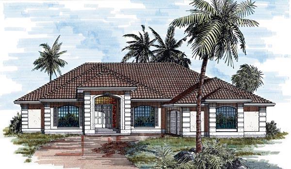 Mediterranean House Plan 55247 Elevation