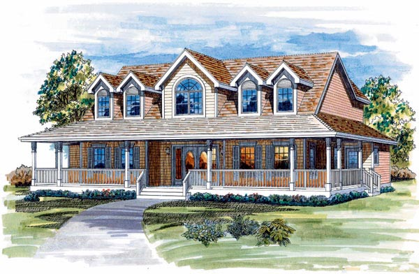 Country House Plan 55248 Elevation