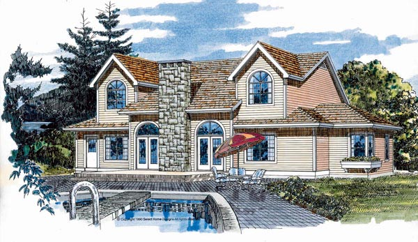 Country House Plan 55248 Rear Elevation