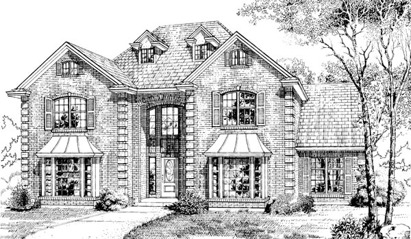 European House Plan 55250 Elevation