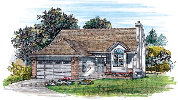 Traditional House Plan 55251 Elevation