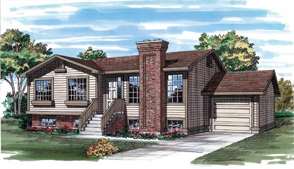 Traditional House Plan 55253 Elevation