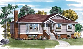 Traditional House Plan 55254 Elevation