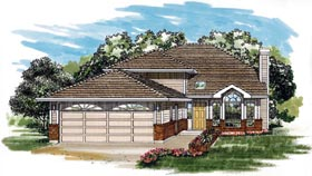 Traditional House Plan 55255 Elevation
