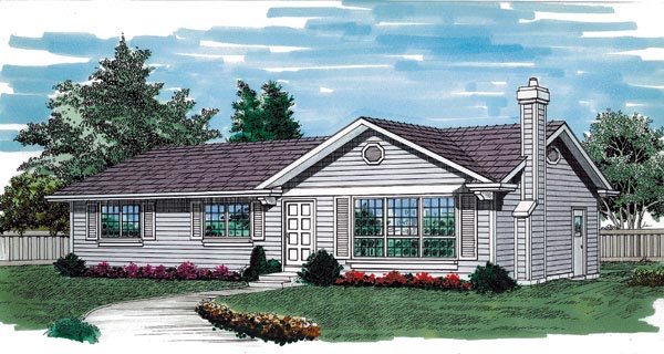 Ranch House Plan 55256 Elevation
