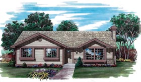 Traditional House Plan 55257 Elevation