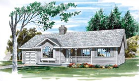 Ranch House Plan 55259 Elevation