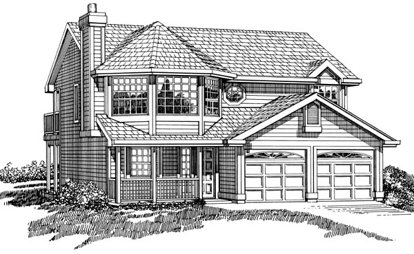 Country House Plan 55260 Elevation