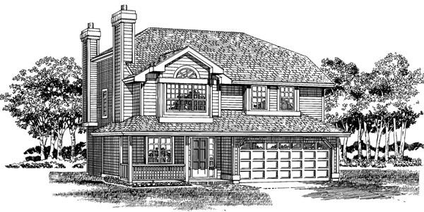 Traditional House Plan 55262 Elevation