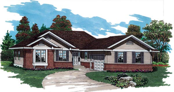 Ranch House Plan 55263 Elevation