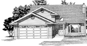 Traditional House Plan 55264 Elevation