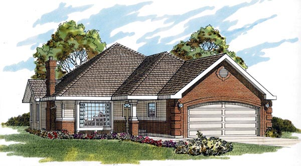 Traditional House Plan 55266 Elevation