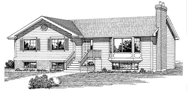 Traditional House Plan 55267 Elevation