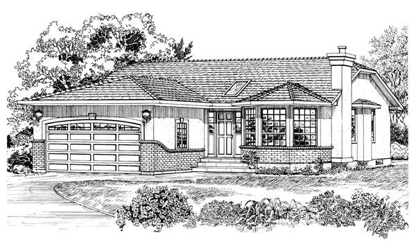 Traditional House Plan 55271 Elevation
