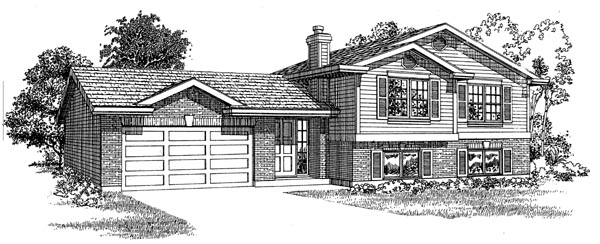 Traditional House Plan 55272 Elevation