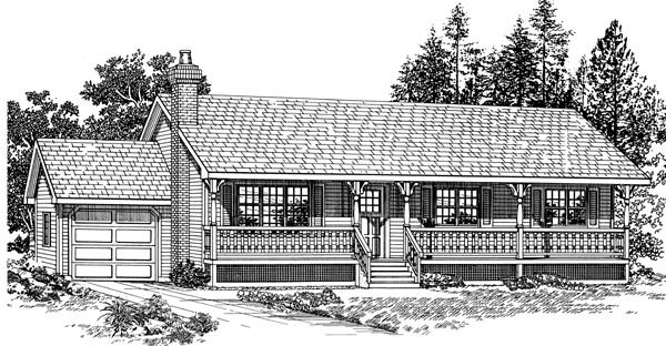 Country House Plan 55273 Elevation