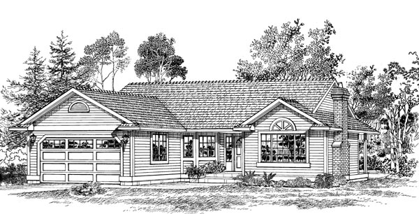 Traditional House Plan 55274 Elevation