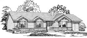 Ranch House Plan 55275 Elevation