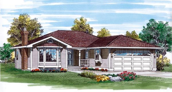 Traditional House Plan 55276 Elevation