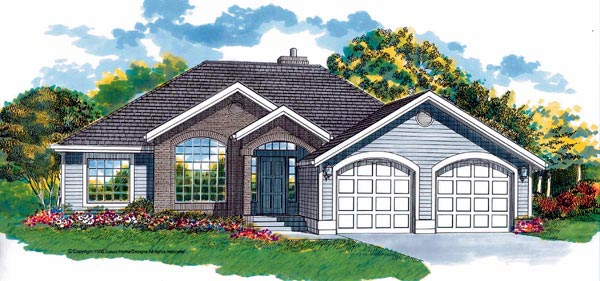 European House Plan 55277 Elevation