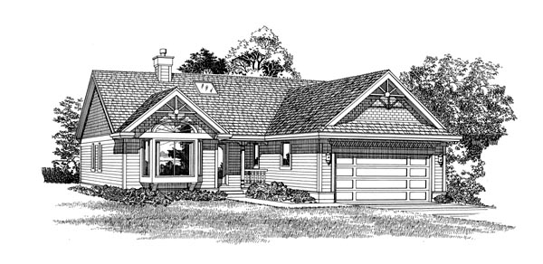 Traditional House Plan 55278 Elevation
