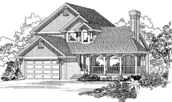 Country House Plan 55280 Elevation