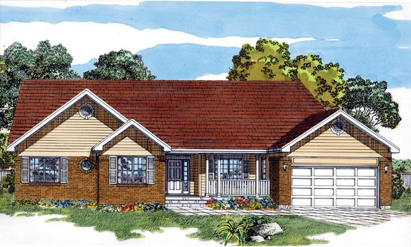 House Plan 55281 Elevation